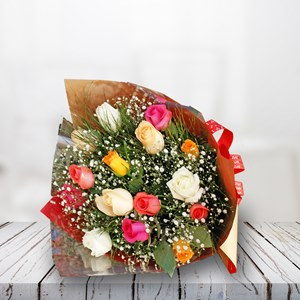 Bouquet  Rosas Coloridas