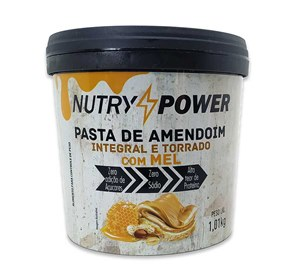 Pasta de Amendoim com Mel 1kg - Nutry Power