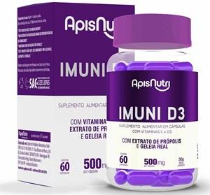 Imuni D3 500mg - 60 caps Apisnutri