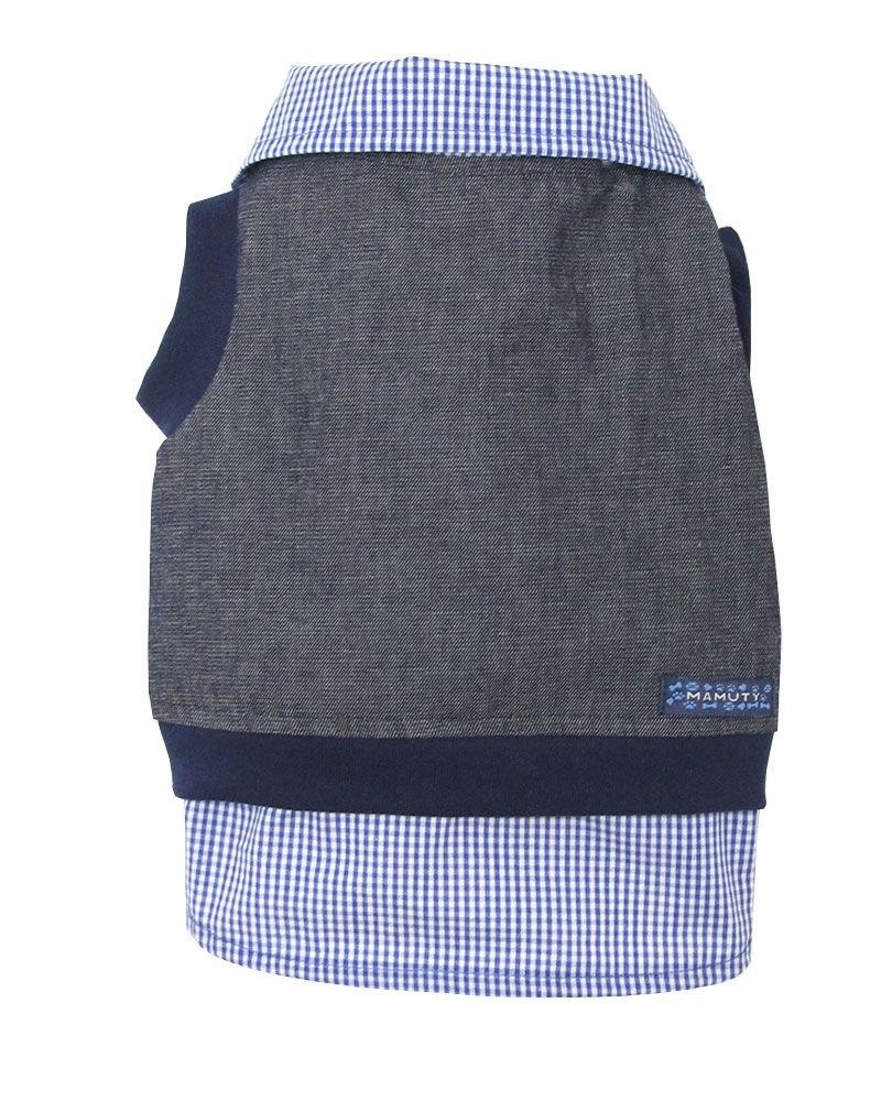 Camisa de Cachorro Jeans Xadrez - Mamuty - Bicho Web 7455642f7fb