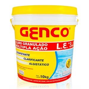 GENCO Cloro Granulado Múltipla Ação 3 em 1 - 10KG
