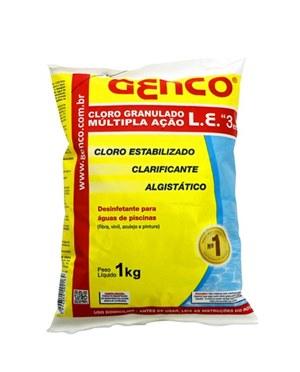 Genco Cloro Granulado Múltipla Ação 3x1 1KG