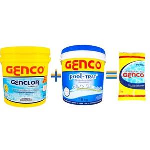 Compre um Genco Genclor 10kg e um Pool-Trat 10kg e GANHE uma barrilha PH 2kg