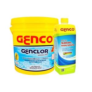 COMPRE GENCLOR DICLORO 56% - BALDE 10KG -R$199,00 E GANHE GENCO ALGICIDA MANUTENÇÃO 1L