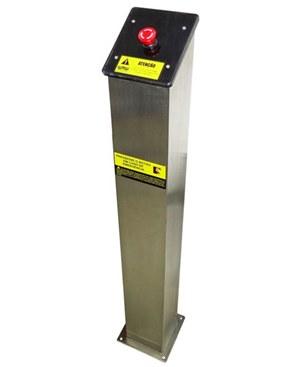 Torre de Segurança com Botão de emergência