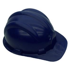 Capacete Azul Escuro Nova Norma Plastcor Com Selo Inmetro - CA: 31469