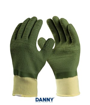 4091416a232da Luva de Proteção Danny Pegasus Pro Total Latex Corrugado Verde CA 30905