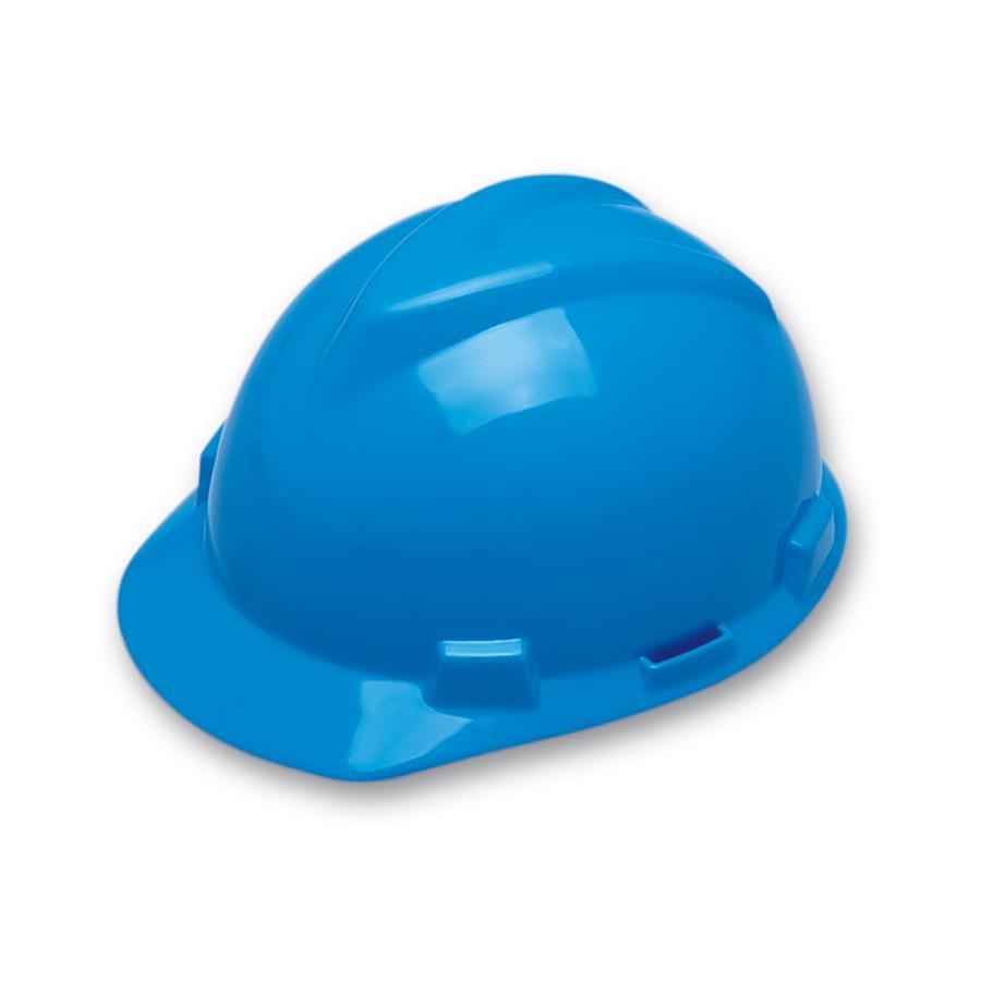 cb9f2377cbbe0 Capacete de Segurança Aba Frontal MSA - Azul Bic - Suspensão - Jugular - CA  498