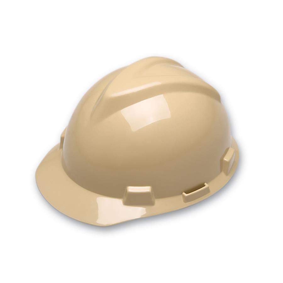 6b84653467832 Capacete de Segurança Aba Frontal MSA - Bege Pêssego - Suspensão - Jugular  - CA 498