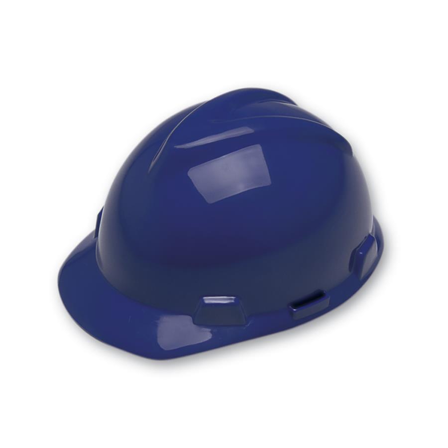 5de87b3ba9d0f Capacete de Segurança Aba Frontal MSA - Azul Marinho - Suspensão - Jugular  - CA 498