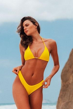 Biquíni Ipanema - Amarelo Texturizado - Asa-Delta