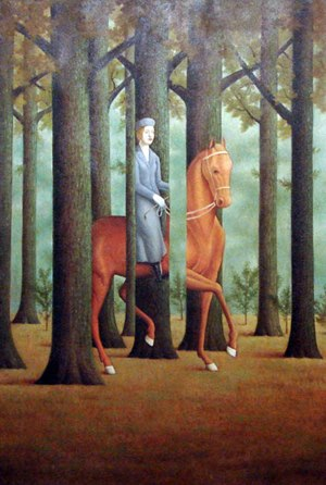 THE BLANK SIGNATURE - RENÉ MAGRITTE - 60x90cm