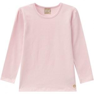 Camiseta Básica Manga Longa Infantil Feminina 40076
