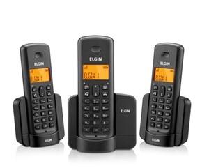 TELEFONE SEM FIO C IDENT VIVA VOZ 2 FONE RAMAL EXTRA REF TSF8003 ELGIN