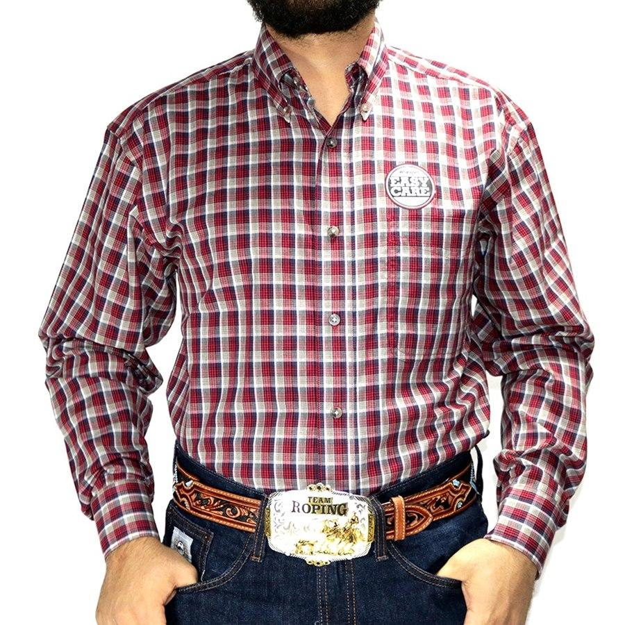 Camisa Masculina Xadrez Wrangler Riata Manga Longa - Rancho Arizona ... 3cddb70536a