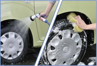 Lavando os pneus