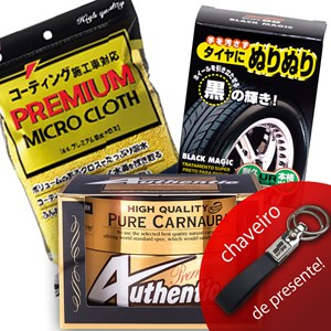 KIT PREMIUM CERA AUTHENTIC TOALHA MICRO CLOTH SUPER PRETO