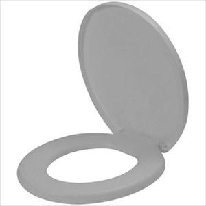 Assento Almofadado Oval Cinza Prata Comfort