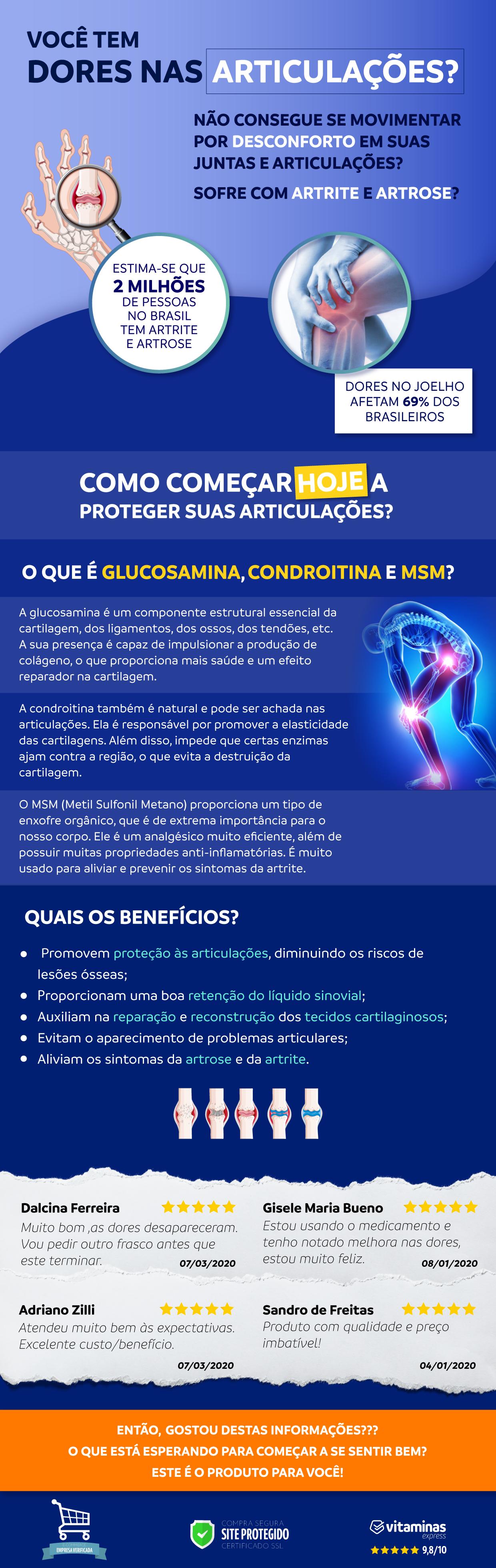 Osteo Bi Flex triple strength é um component de Glucosamina condroitina e msm para a saúde das articulações