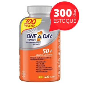 One a Day Bayer | Acima 50 anos para mulheres | Estoque para 300 dias