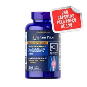 Glucosamina, Condroitina & MSM Força Tripla Puritan's Pride, 240 cápsulas