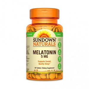 Sundown Naturals | 90 Comprimidos de Melatonina 5mg