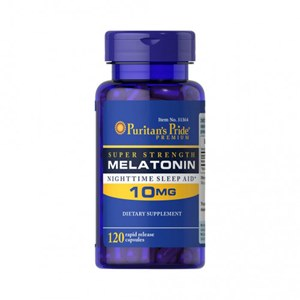 120 Cápsulas Puritan's Pride Melatonina 10mg