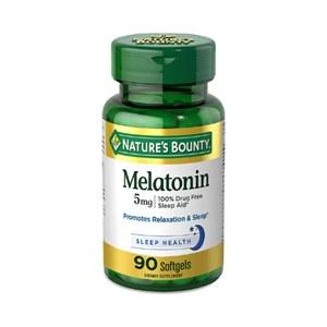 Melatonina 5mg Liberação Rápida Nature's Bounty 90 Softgels