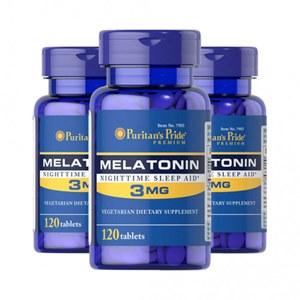 Combo 3 frascos Melatonina 3mg | Puritan's Pride - 360 capsulas