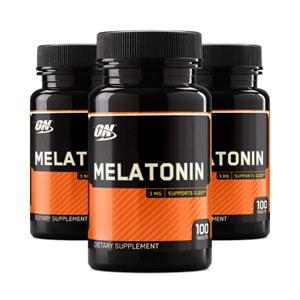 3 Frascos | Melatonina 3mg Optimum Nutrition | 300 cáps | COMPRA SEGURA E GARANTIDA