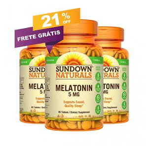 Combo de 3 frascos | Sundown 5mg | Mel tonina | Entrega rastreada