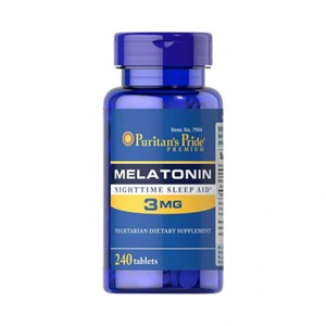 Melatonina 3mg Puritan's Pride - 240 cápsulas