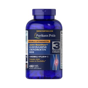 Glucosamina 480 cáps + Condroitina + MSM Puritan's Força Dupla Ação