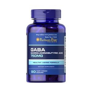 GABA Ácido Aminobutírico 750 mg | 90 cápsulas de ação rápida | Puritan's Pride