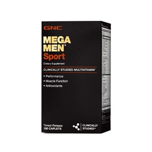 GNC Mega Men Sport   Multivitamínico masculino 180 cápsulas