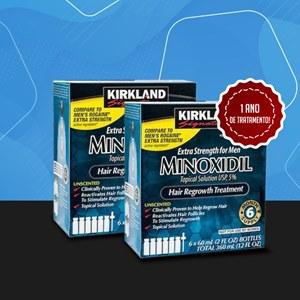 Combo 1 ano de tratamento Minoxidil Kirkland 5% | Produto Original | Frete grátis para todo o Brasil