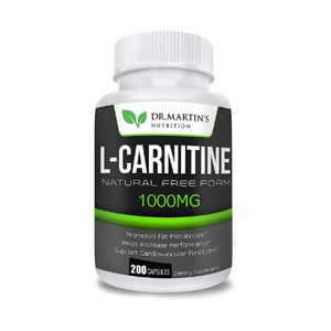 L-Carnitina Importada | Dr. Martin's Nutrition | 1000mg 200 caps