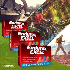 Combo 3 caixas de Endurox Excel | Produto Original 180 capsulas | Envio Imediato