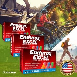 Combo 3 caixas de Endurox Excel   Produto Original 180 capsulas   Envio Imediato