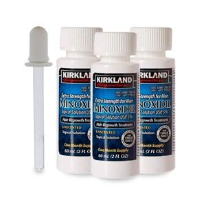 3 frascos Minoxidil Kirkland 5% |  60 ml
