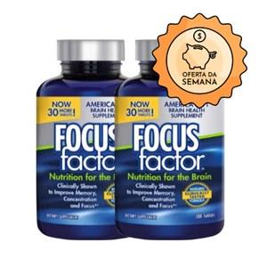 Combo 2 Frascos Focus Factor | Saúde para seu Cérebro | 360 cápsulas