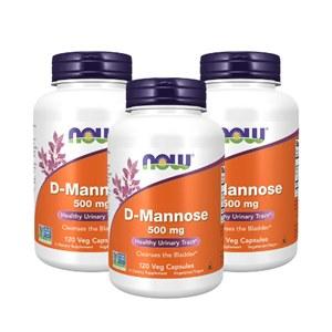 Combo 3 frascos D- Mannose | 500mg 120 cápsulas | Now Foods