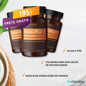 COMBO 3 FRASCOS Vitamina K-2 Amazon Elements 65 Cápsulas